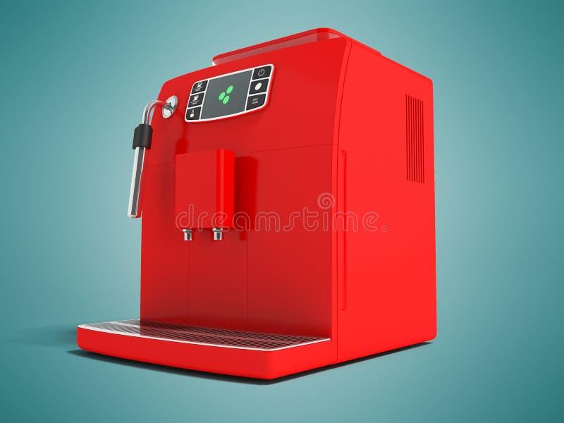 有储水箱的f现代多功能电咖啡机器 库存例证