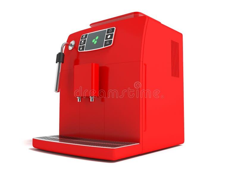 有储水箱的f现代多功能电咖啡机器 皇族释放例证
