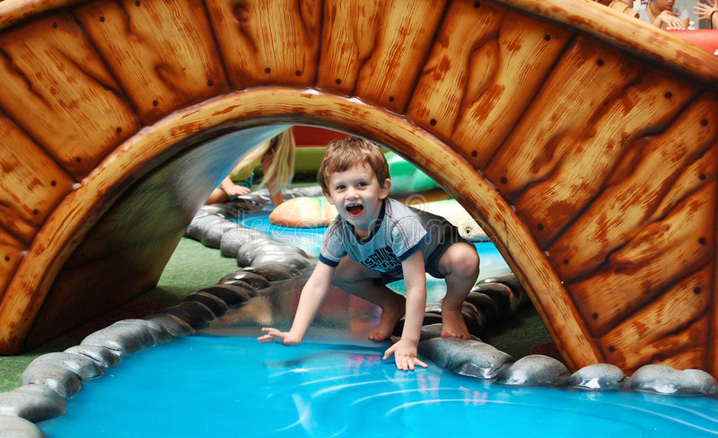有儿童的乐趣 库存照片
