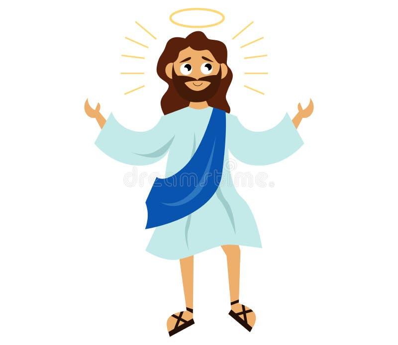 有光晕的耶稣基督圣子 皇族释放例证