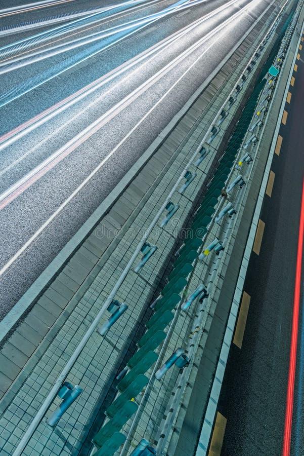 有光的城市交通路在市中国落后 图库摄影