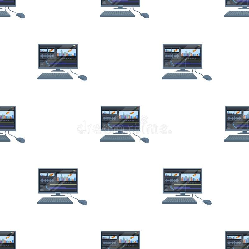 有关键董事会的计算机 做电影在动画片的唯一象称呼传染媒介标志股票例证网 向量例证