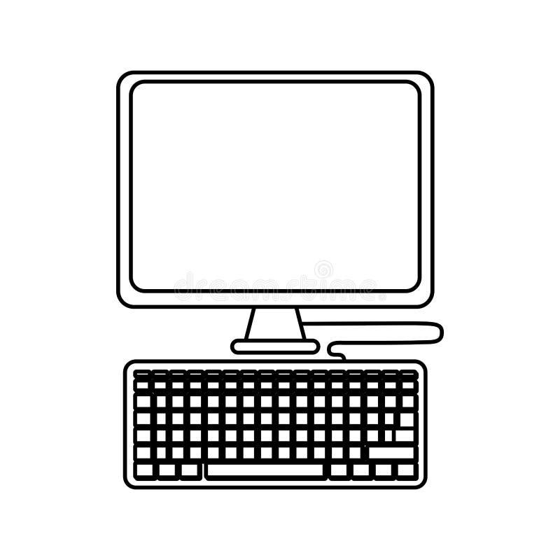 有关键董事会的计算机 向量例证