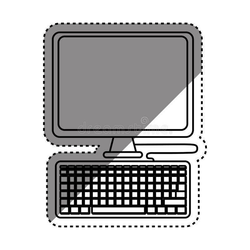 有关键董事会的计算机 皇族释放例证