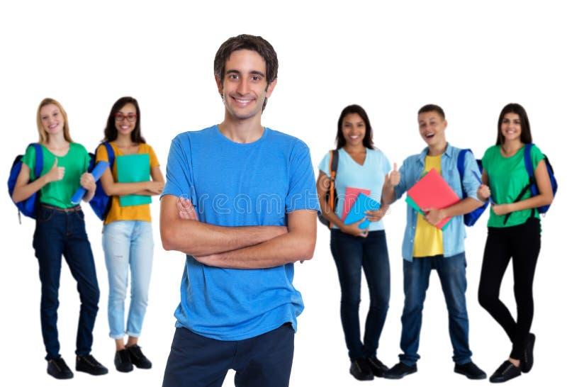 有其他学生的快乐的土耳其年轻成人人 免版税库存照片
