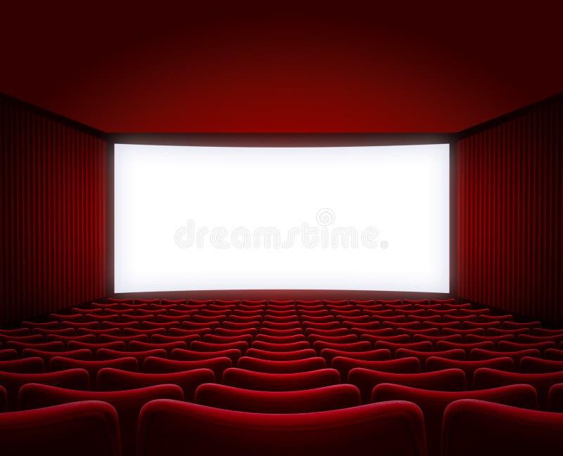 有内部红色的位子的电影院大厅