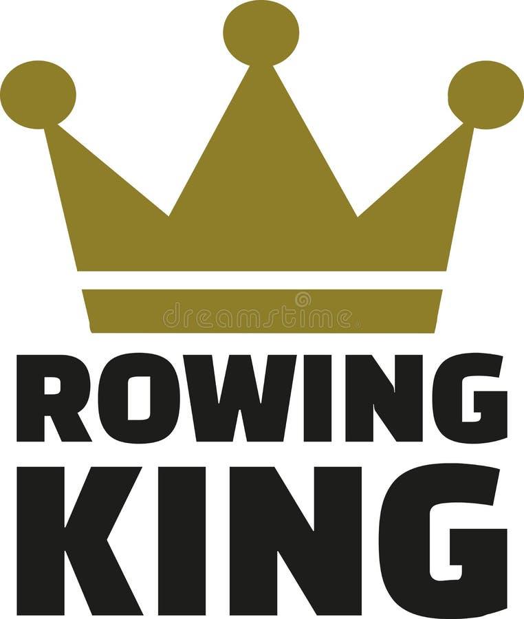 有冠的划船国王 向量例证