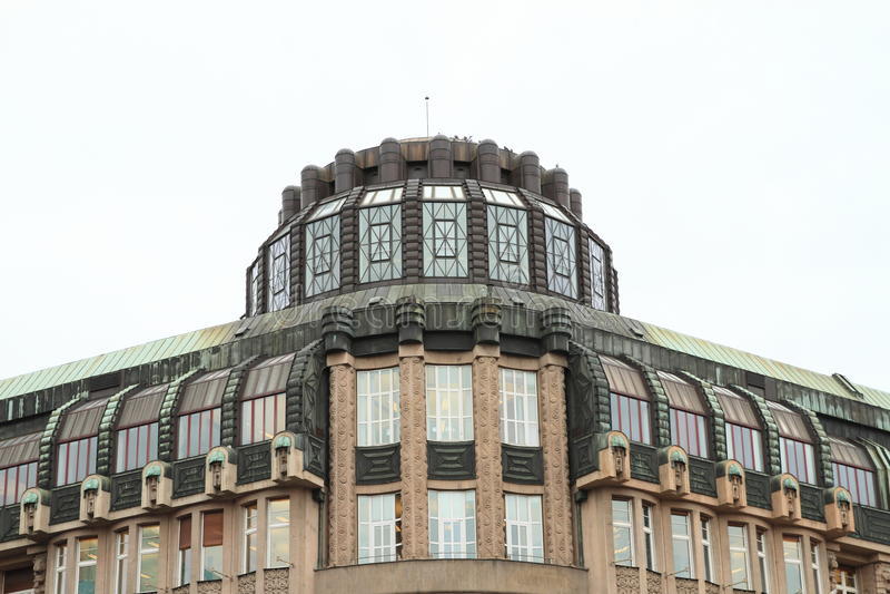有冠的屋顶 库存照片