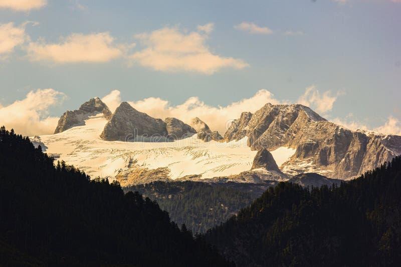 有冰川的达克斯坦 库存照片