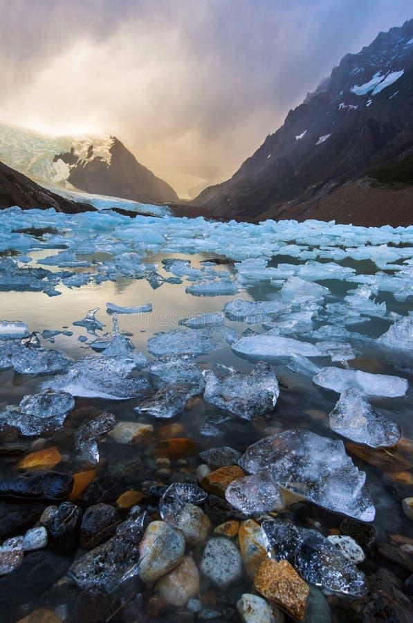 有冰的拉古纳Torre 库存照片