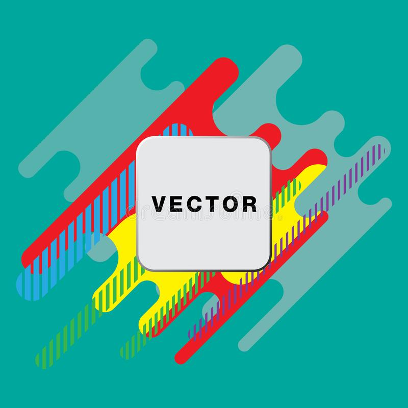 有几何样式的盖子 五颜六色的背景 可适用为横幅,招贴,海报,飞行物 皇族释放例证