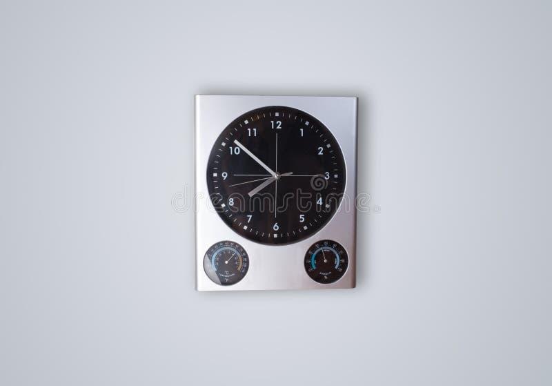 有几小时和分钟的现代时钟 免版税库存图片