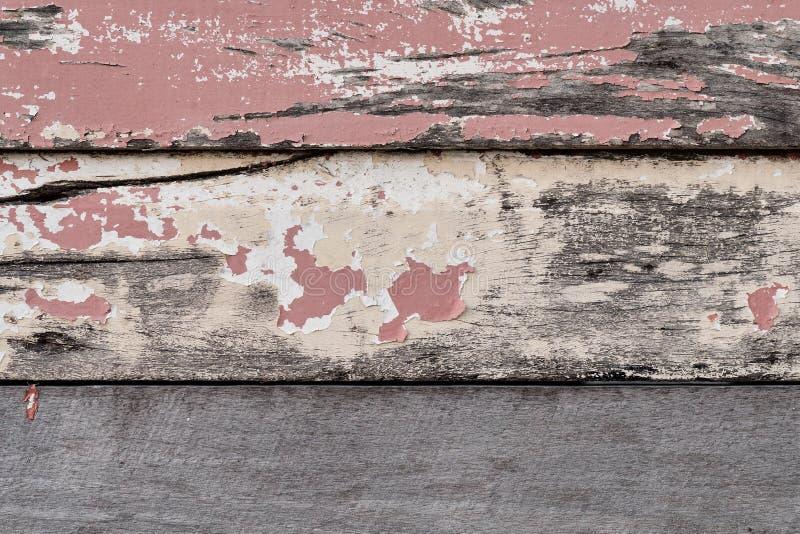 有切削的油漆的被风化的委员会 免版税库存图片