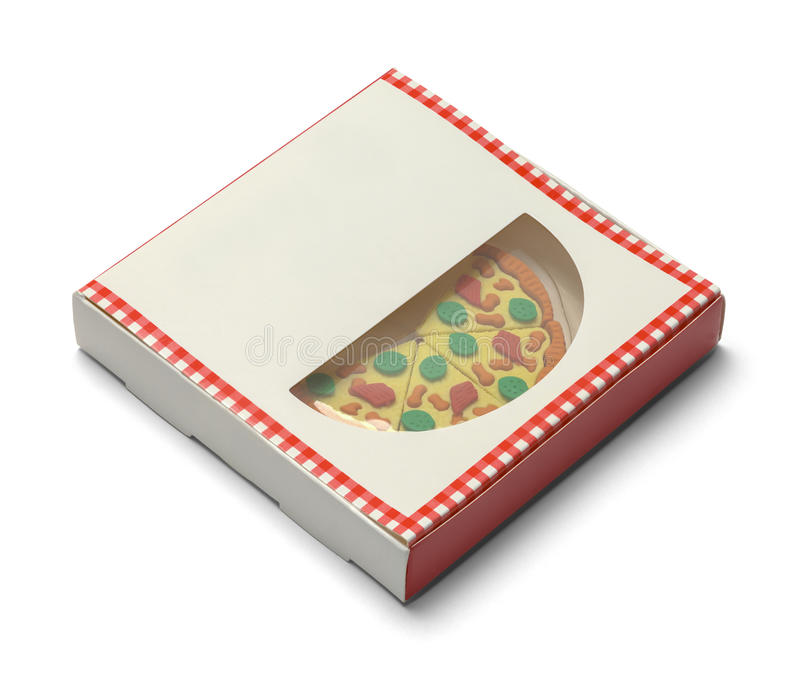 有切片的薄饼箱子 免版税库存图片