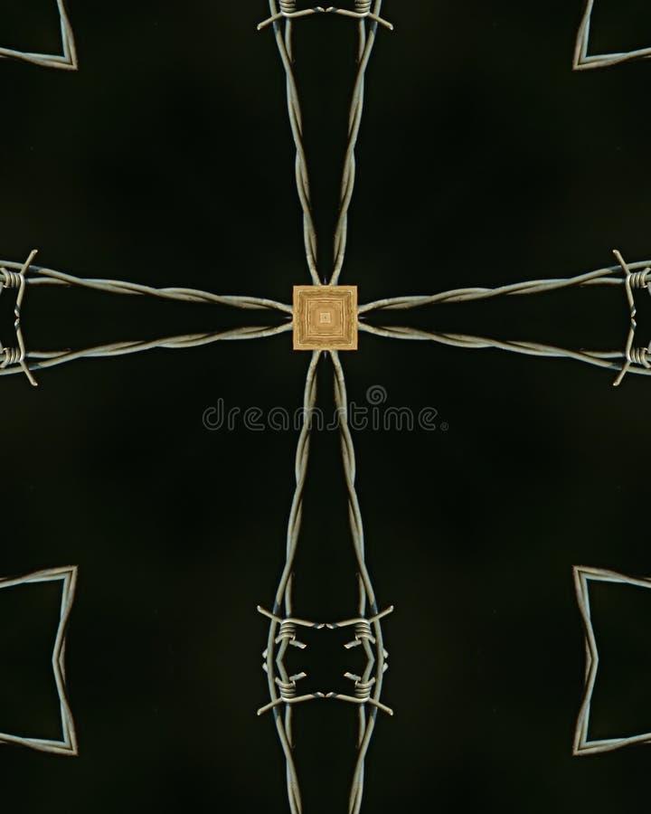 有刺的交叉线 免版税库存照片