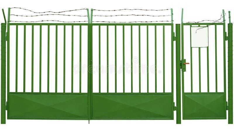 有刺的门绿色电汇 皇族释放例证