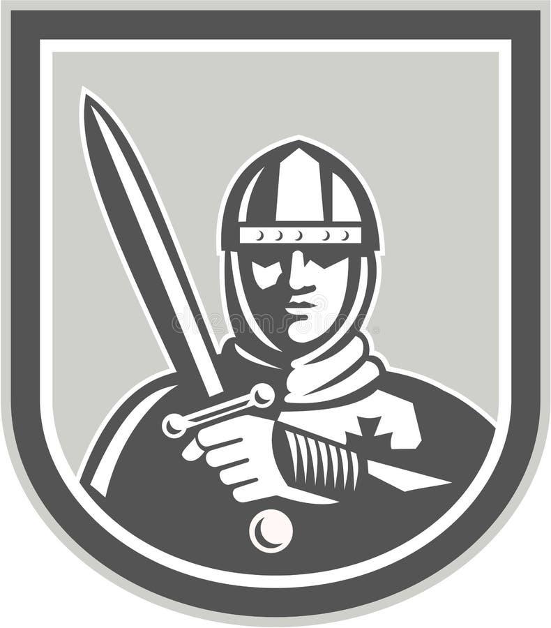 有剑前面冠的烈士骑士 向量例证