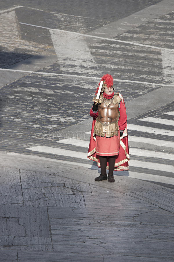 有剑的一个罗马争论者 免版税图库摄影