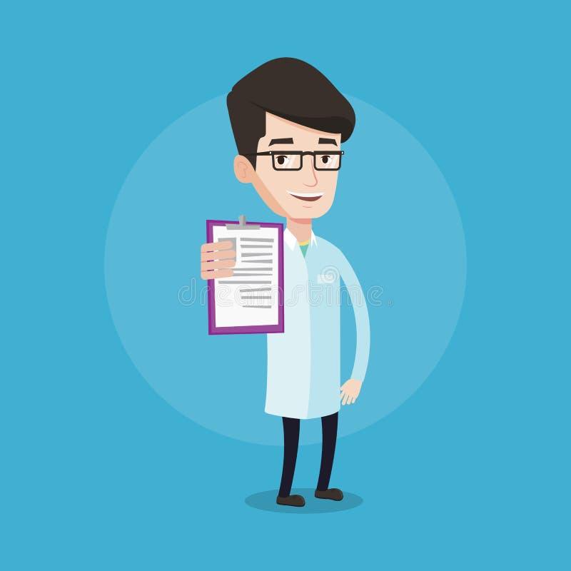 有剪贴板传染媒介例证的医生 向量例证