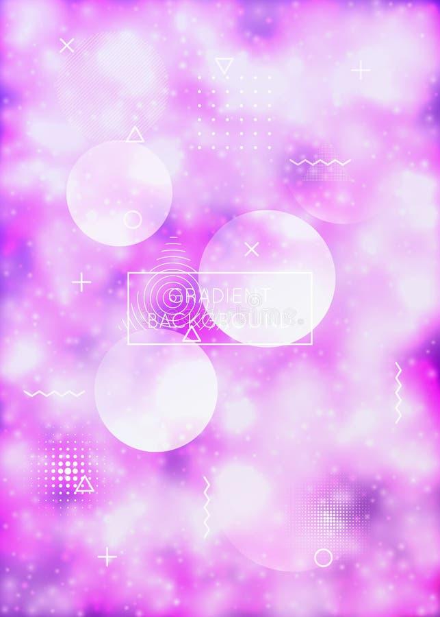 有动态流体的液体形状盖子 霓虹鲍豪斯建筑学派梯度wi 免版税库存照片
