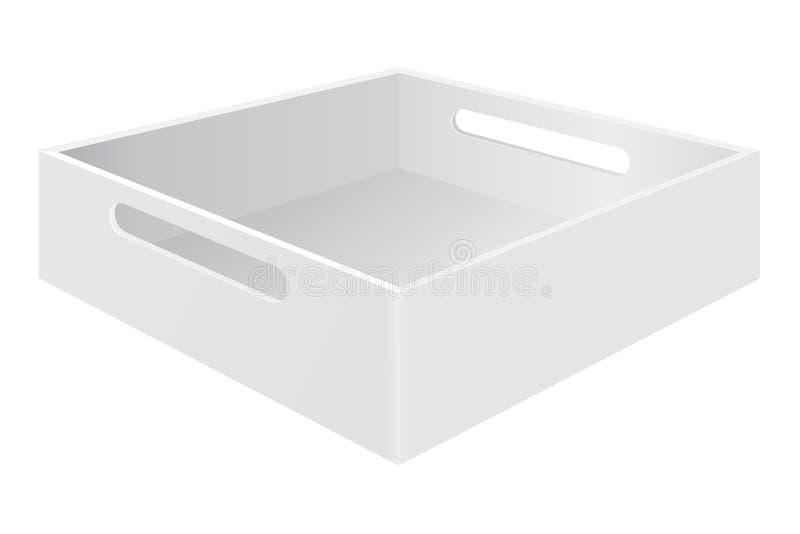 有劫掠把柄的白色盘子箱子 皇族释放例证