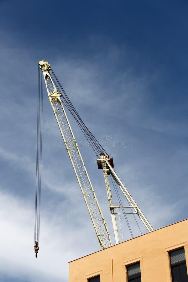 有勾子的造船厂起重机,细节 免版税图库摄影