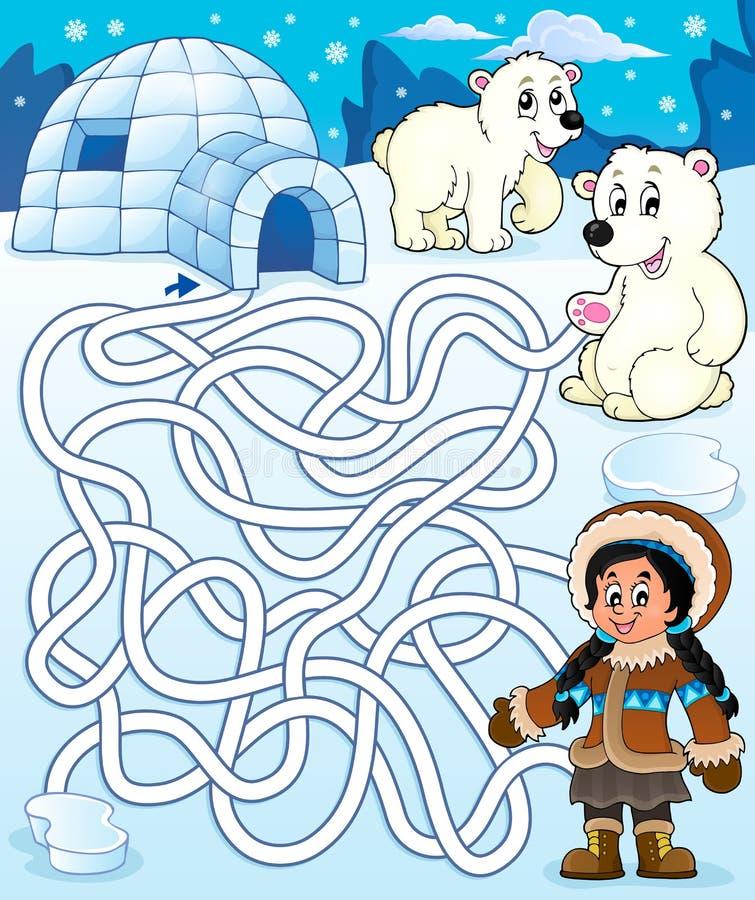 有北极题材的1迷宫4 向量例证