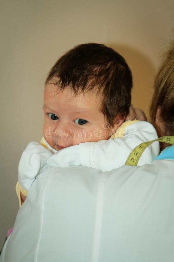 有医生的婴儿 免版税库存图片