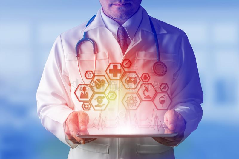 有医疗医疗保健象接口的医生 库存照片