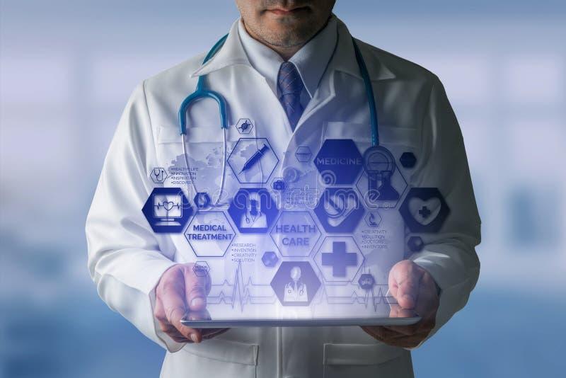 有医疗医疗保健象接口的医生 免版税库存照片