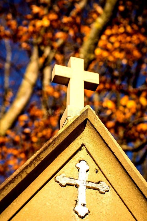 有十字架的驻地的受难象 免版税库存图片