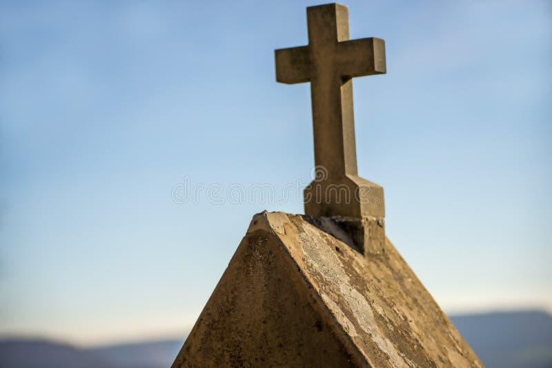 有十字架的驻地的受难象 免版税图库摄影