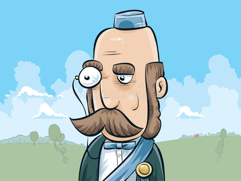 有单片眼镜的公爵 皇族释放例证