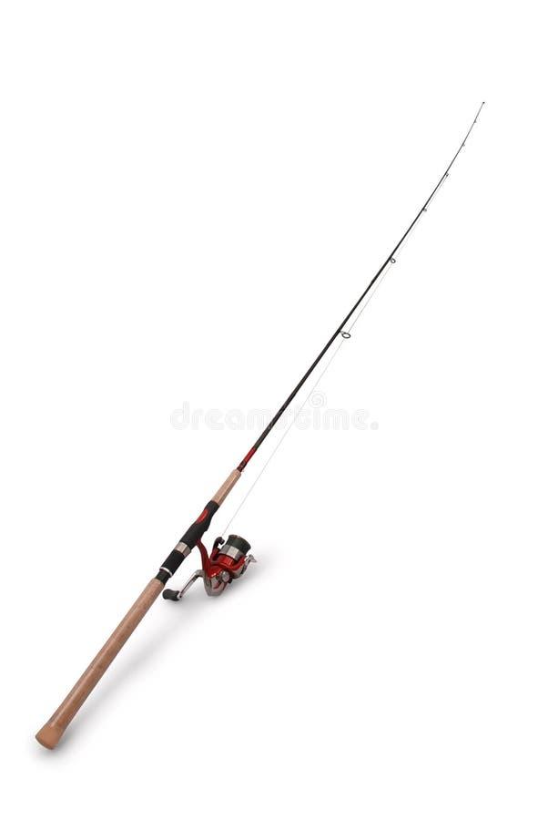 有卷轴的钓鱼竿 库存图片