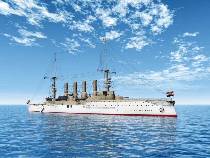 有历史的军舰 库存例证