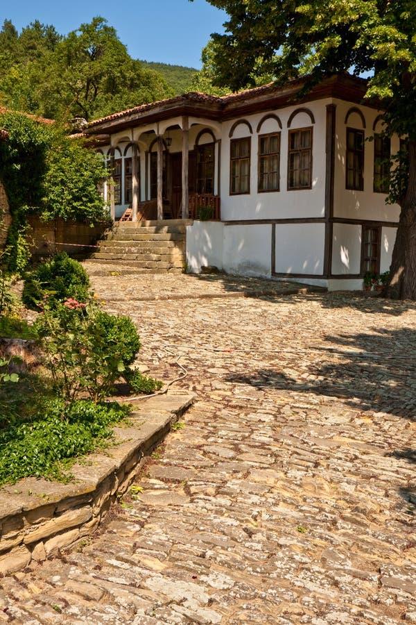 有历史的房子zheravna 库存照片