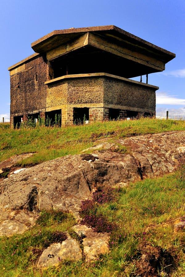 有历史的炮台,苏格兰 库存图片