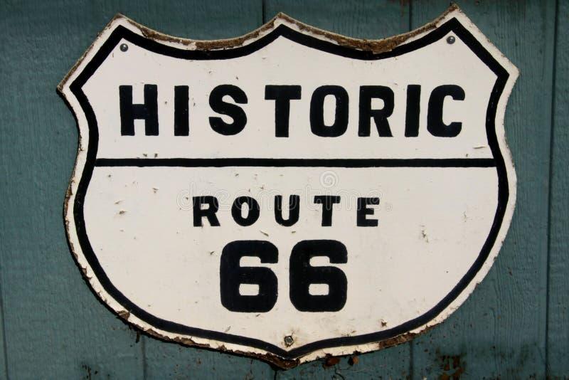 有历史的途径66 库存照片