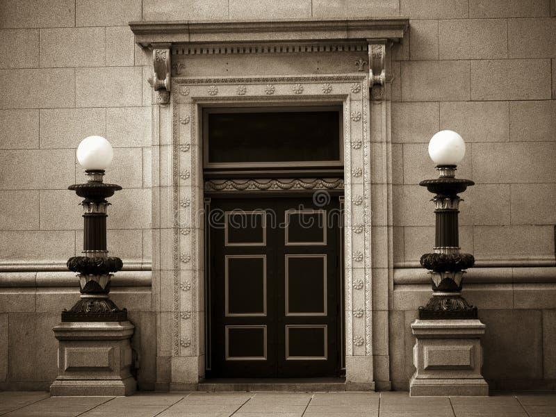有历史的银行大楼 库存图片
