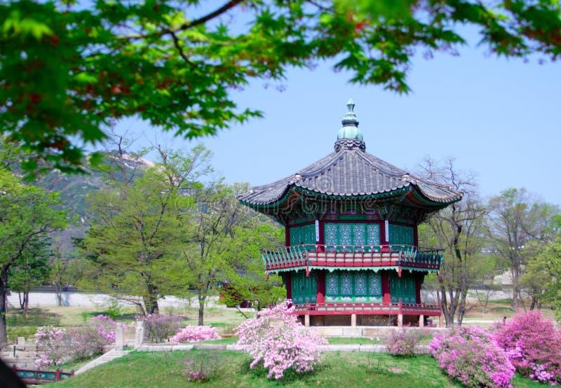 有历史的韩国老pavillion汉城 免版税图库摄影