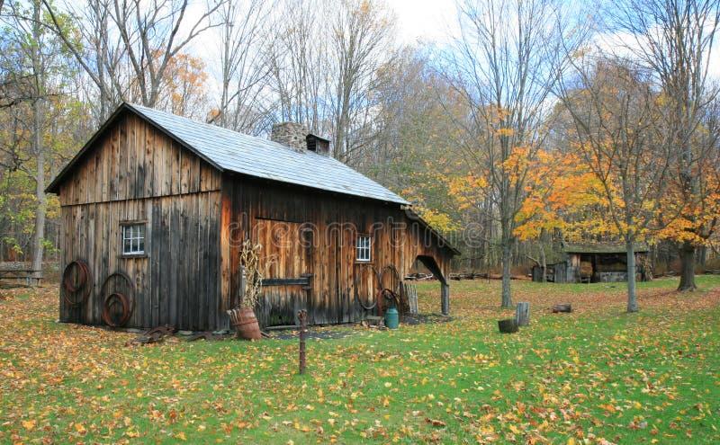 有历史的millbrook村庄 免版税库存图片
