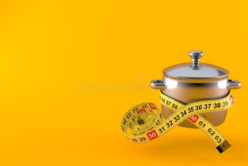 有厘米的厨房罐 库存例证