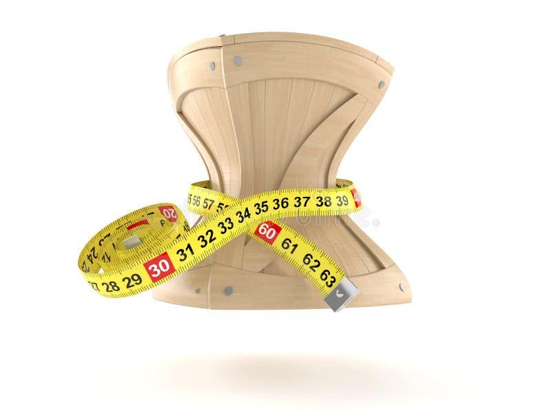 有厘米的条板箱 向量例证