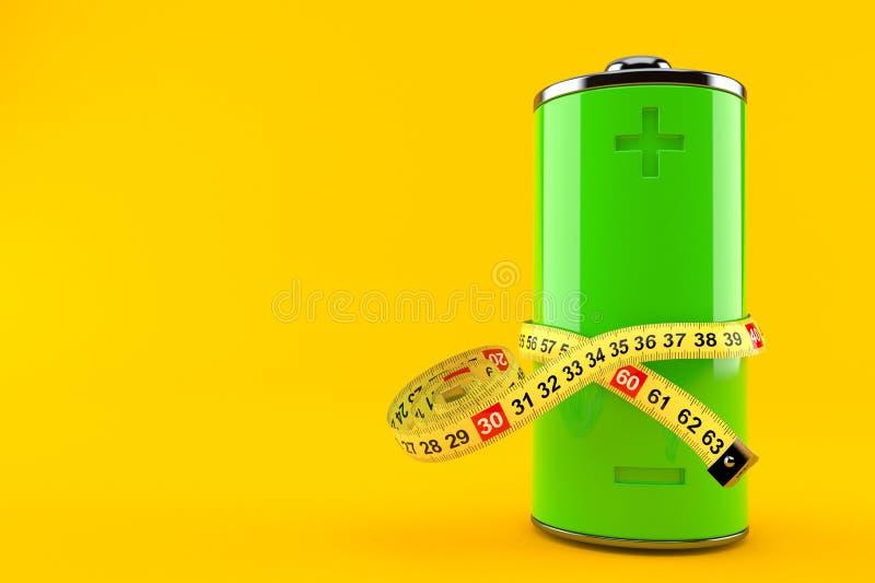 有厘米的电池 库存例证