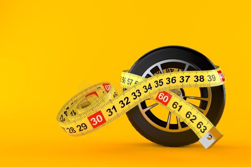 有厘米的车轮 向量例证