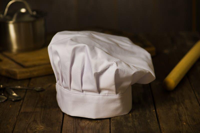有厨房的厨师帽子 免版税库存图片
