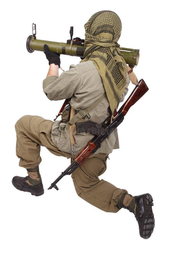 有反坦克火箭发射器的- RPG佣工 库存图片