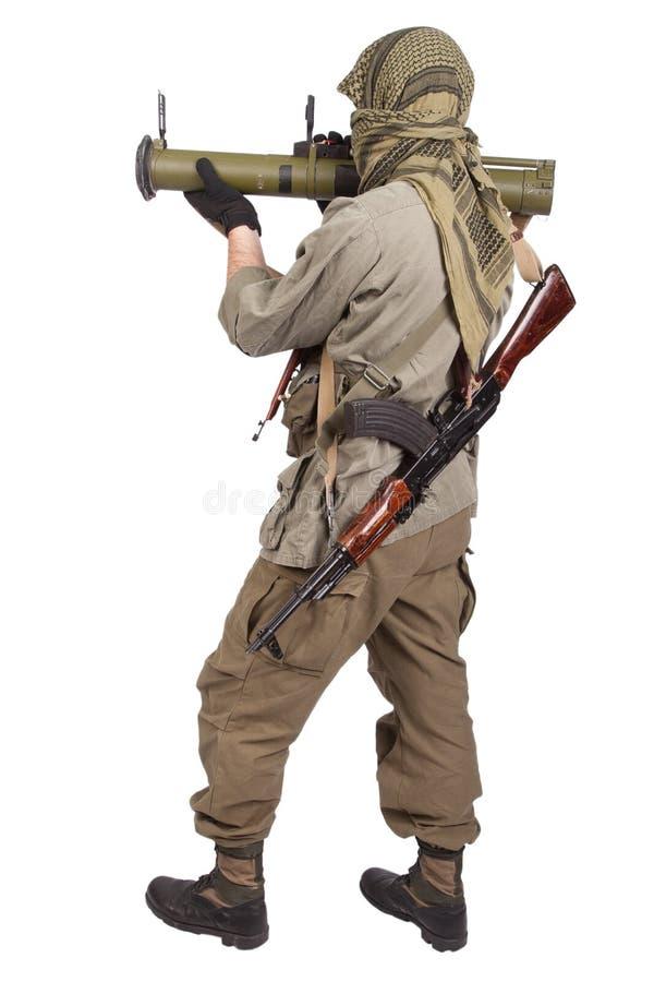 有反坦克火箭发射器的- RPG 26佣工 免版税库存照片