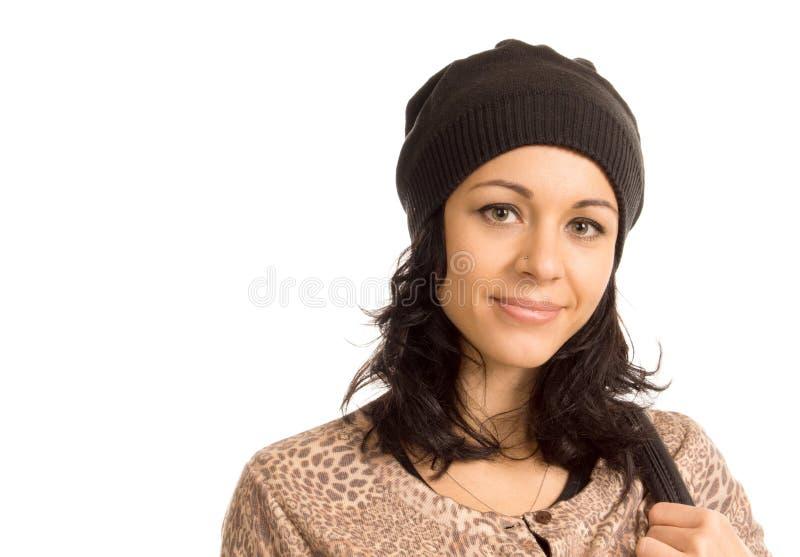有可爱的微笑的美丽的妇女 免版税库存图片
