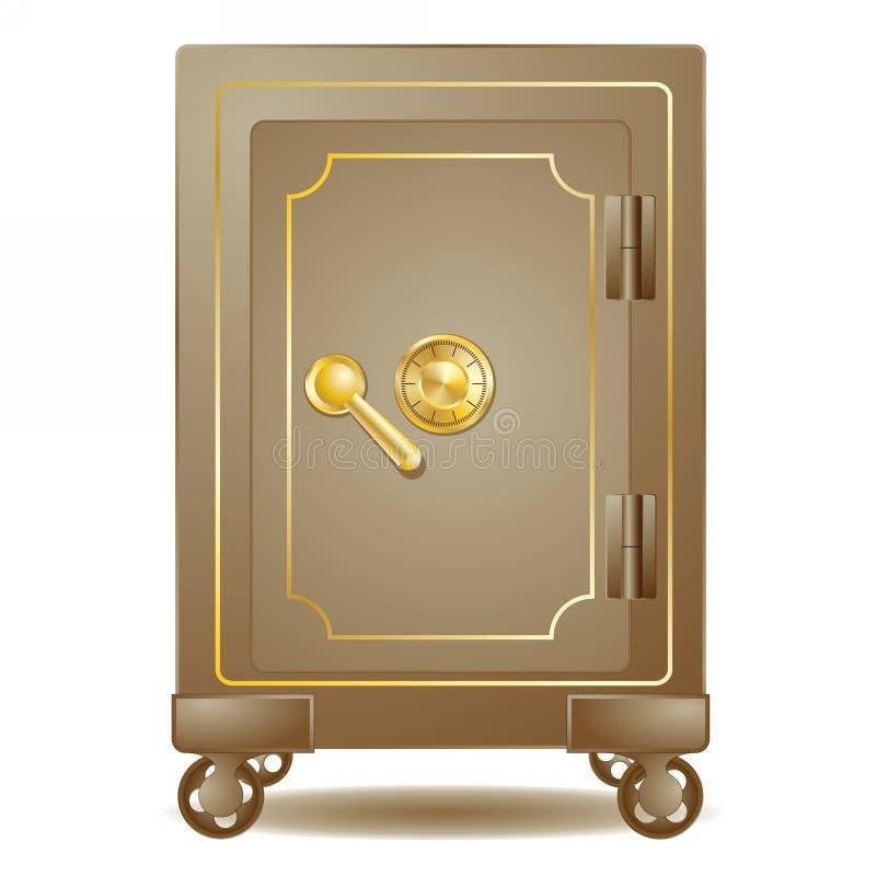 有号码锁的老保险柜 皇族释放例证